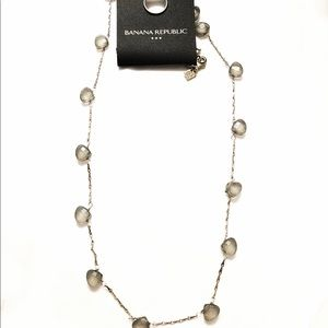 BANANA REPUBLIC blue-gray gemstone necklace NWT